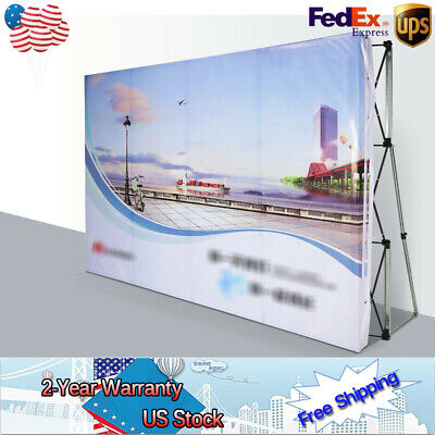 8 Ft Pop Up Fabric Display Backdrop Trade Show Exhibition Booth Tension Sale