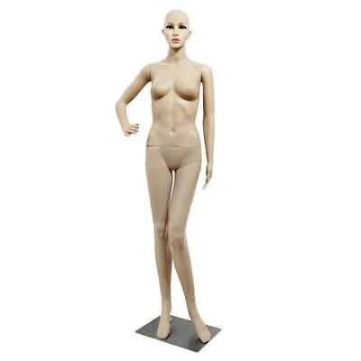 176 Cm Female Mannequin Plastic Realistic Display Head Turns Dress Form W Base