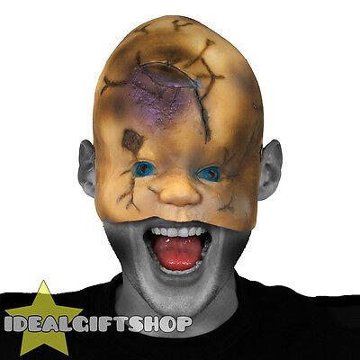DOLL FACE HALLOWEEN MASK HORROR FACE FLESH NIGHTMARE SCAR FANCY DRESS ()