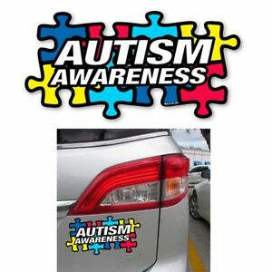 1 x Autism Awareness Puzzle Piece Magnet Car Truck Bumper Refrigerator Board New