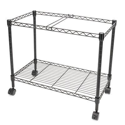 Metal Rolling Mobile File Cart Hanging Filling Cabinet Folder Organizer Office
