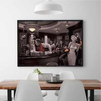 James Küche (Hollywood Legends Bar Poster - Marylin Monroe Elvis James Dean Bogart 91,5x61 cm)