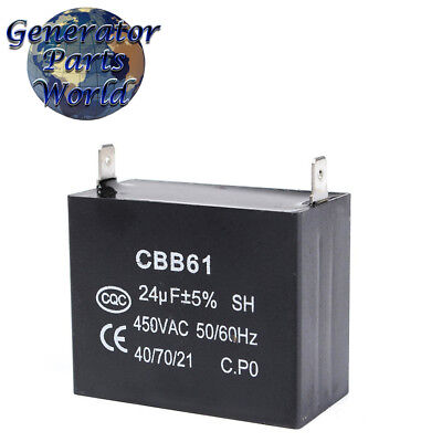 Coleman 24uf Capacitor For Powermate Teapo Yf-ta Meritek Generator 0051251 Cbb61