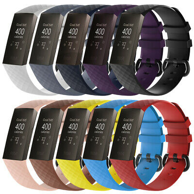 Wristbands 3 Pack Bracelet Band (10Pack For Fitbit Charge 3 Replacement Watch Strap Bracelet Wrist Band 10 Color )