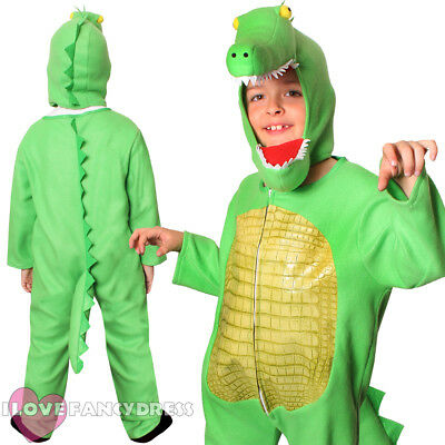 CHILD CROCODILE COSTUME ANIMAL FANCY DRESS ALLIGATOR BOYS GIRLS SCHOOL BOOK WEEK