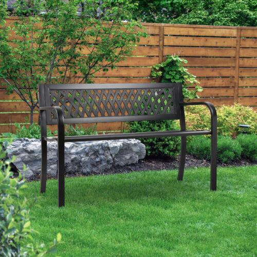 Garden Furniture - Gardeon Garden Bench Cast Iron Steel Outdoor Patio Furniture Park Chair Black