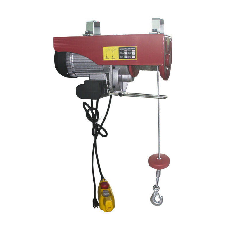 39 ft Electric Wire Rope Hoist 1100lbs Single 2200lbs Double Line Cap.