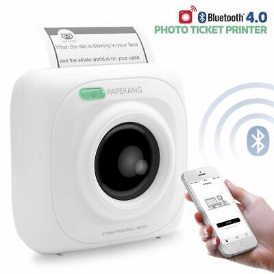 1PK Mini Bluetooth Printer-Wireless Paper Photo Printer Portable  Mobile Printer