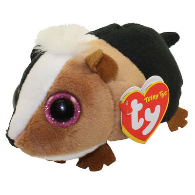 "TY Beanie Boos 4"" Teeny Tys THEO Guinea Pig Stackable Plush Animal w/ Heart Tags"