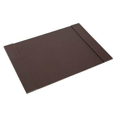 Staples Desk Pad Faux Leather Brown 2721127