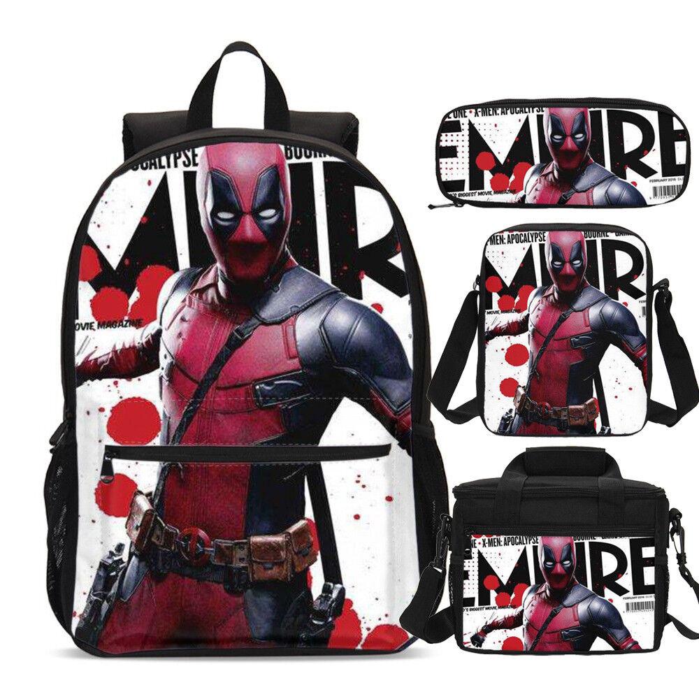 Spiderman Marvel Big Backpacks Insulated Lunch Box Pencil Case Shoulder Bag Lot
