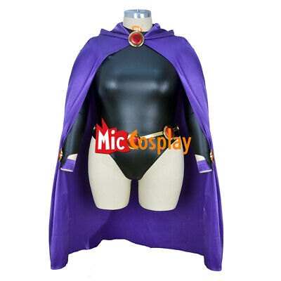 Raven Cosplay Costume (Plus Size Raven Cosplay Costume Women Purple Cape Jumpsuit)