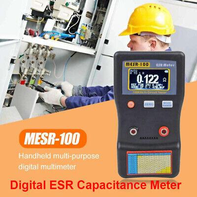 Mesr-100 Portble Esr Capacitance Meter Resistance Circuit Capacitor Tester Meter