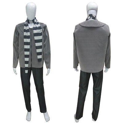 Same Day Dispatch Men's Jacket Scarf Cosplay Despicable Me 3 Gru Costume HC-216 (Gru Costume Scarf)