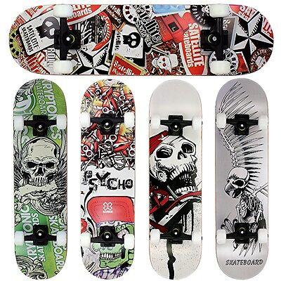 FunTomia® Skateboard Kanada Ahornholz ABEC-11 Kugellager 100A Rollen 7 Farben ()