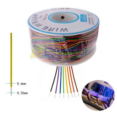 280m 30awg Copper Wire Wrapping Cable Insulation Test Cable 8 - Colored 0.25mm