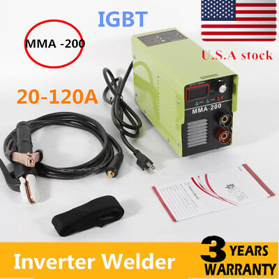 110v Dc Inverter Welder Mini Handheld Arc Welding Machine Mma 20-120a Igbt