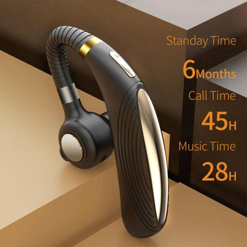 Wireless 5.0 Bluetooth Earpiece Driving Trucker Headset Earb
