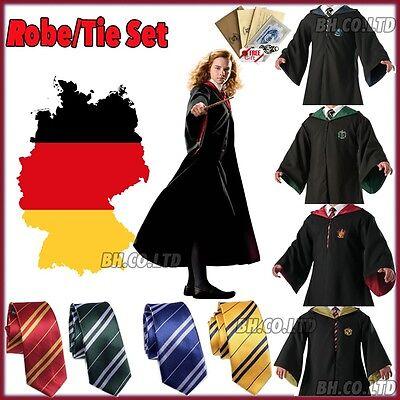 Erwachsene Gryffindor Kostüm (Harry Potter Kostüm Gryffindor Slytherin Mantel Umhang Robe Erwachsene Kinder)