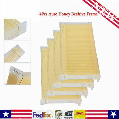 Upgrade4pcs Auto Honey Beehive Frame Beekeeping Kit Bee Hive Frame Harvesting