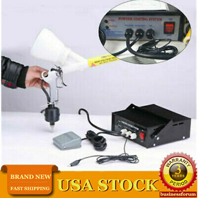 Powder Coating Machine Powder Coating System Paint Spray Gun Pc03-5 Usa Stock