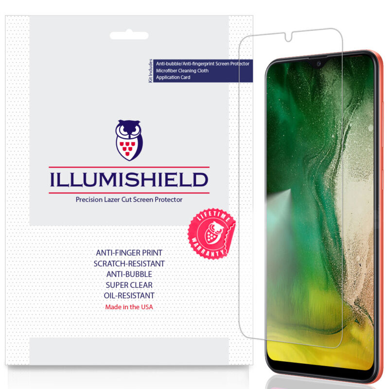 3x iLLumiShield Screen Protector for Samsung Galaxy A20 SM-A205G-DS