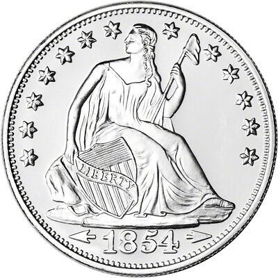 1 oz. Highland Mint Silver Round - Seated Liberty Design .999 Fine