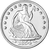 1 oz. Highland Mint Silver Round - Seated Liberty Design .999 Fine
