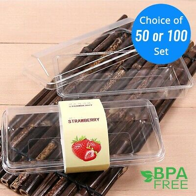 50/100 ct. Clear Plastic Cake To-go Container For Social Events & Parties - Plastic Cake Containers