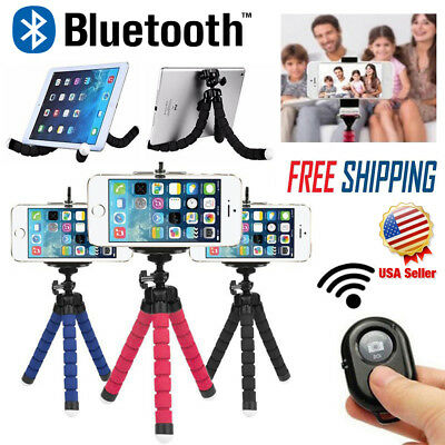 Flexible Smartphone Tripod Wireless Bluetooth Remote for iPhone X 8+ 8 7 Plus 6s