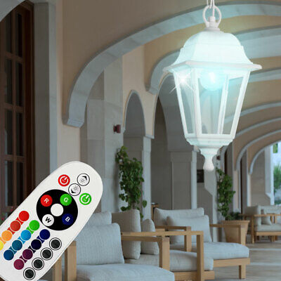 RGB LED Exterior Cubrir Colgante Lámpara Cambiador Regulable Jardín Péndulo Luz