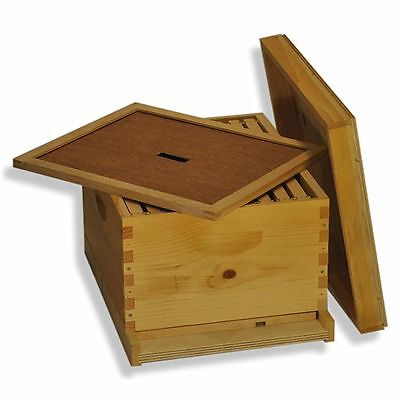 Single 10 Frame Deep Brood Box Beginners Beehive Kit - Gl1stack
