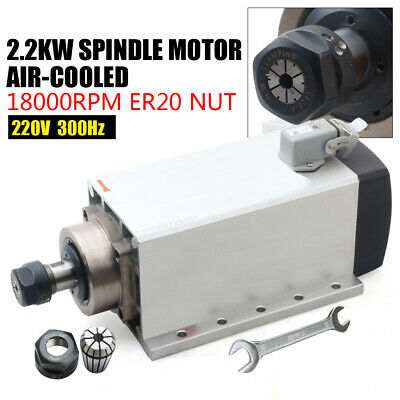 Us 2.2kw Square Er20 220v Air Cooled Spindle Motor 300hz Cnc Engraving Milling