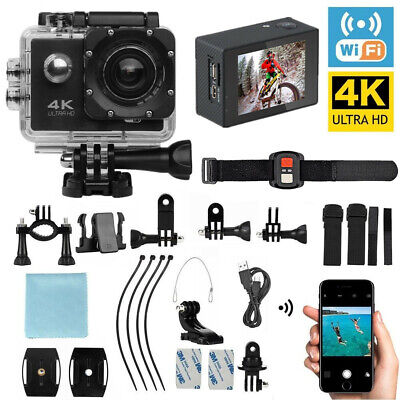 2.0 Ultra HD Action Camera Sports Camcorder Waterproof DVR 1080P/4K WiFi Remote