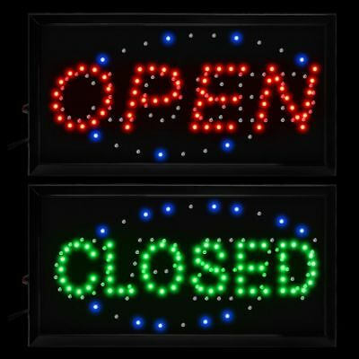 Boshen 19x10 Flashing Led Neon Light Business Sign Open Close 2 In 1 Cafe Bar