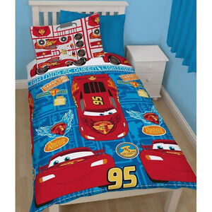 disney pixar cars single duvet set quilt cover kids bedroom ... - Letto Saetta Mcqueen
