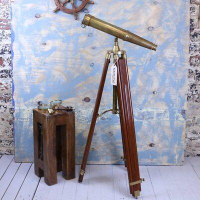 Mowai Vintage Binoculars on Tripod Nautical Ornament vintage Antique Repro