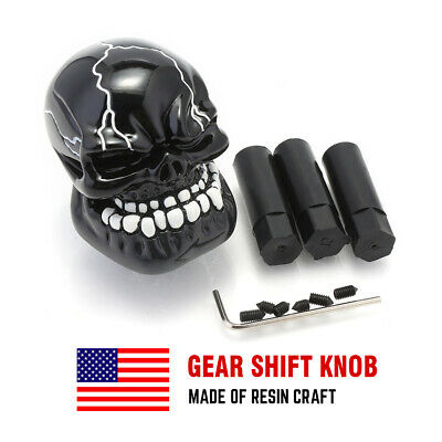 - Black Skull Head Style Shift Knob Lever Shifter for Car Truck Manual Stick Gear