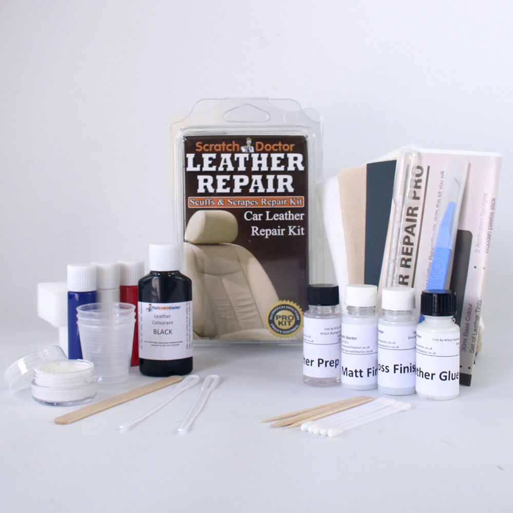 Details About Leather Repair Kit For All Car Interior Etc Fix Tear Scratch Scuffs Holes