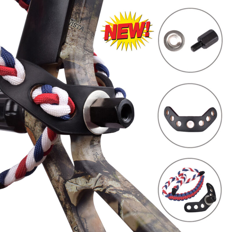Archery Compound Bow Braided Wrist Sling Strap Hunting Shooting Accessories