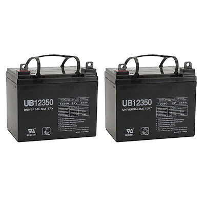 UPG 2 Set - 12V 35Ah U1 Deep Cycle AGM Solar Battery Also Replaces 33Ah 34Ah, 3