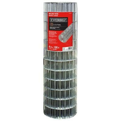 Everbilt Wire Fencing 4 Ft. X 100 Ft. 14-gauge Galvanized Welded Steel Silver