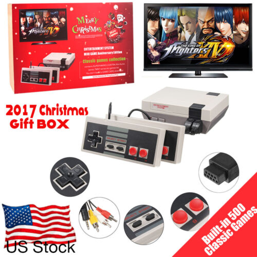 $23.59 - Mini Vintage Retro TV Game Console Classic 500 Built-in Games 2 Controllers US