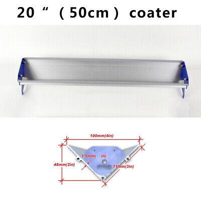 1 Pc 20 50cm Screen Printing Emulsion Scoop Coater Blue Color Aluminum Tool