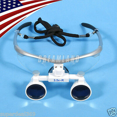 Usa New Dental Optical Surgica Binocular 3.5x Loupes Glasses Magnifier Silver