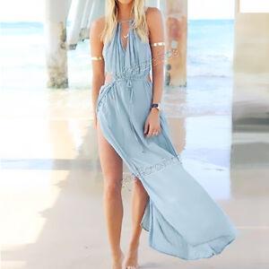 Sexy-Women-BOHO-Casual-Long-Maxi-Summer-Evening-Party-Beach-Dress-Sundress-Blue
