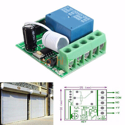 Wireless 1 Channel 433mhz Rf Remote Control Relay Switch Module Receiver Dc 12v