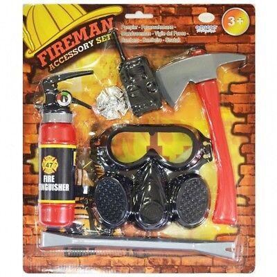 6-teiliges Feuerwehr Set für Kinder AMS Kostüm Feuerwehrmann Jungen Sam (Feuerwehrmann Kostüme Für Jungen)