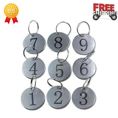 Metal Round Numbered Tags Key Tags Id Tags 1.18 Inches 1-10 Stainless Steel