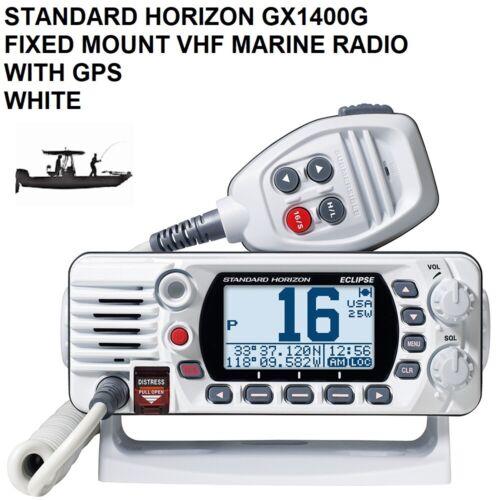 STANDARD HORIZON GX1400G FIXED MOUNT VHF Marine Radio WITH GPS Position & Time